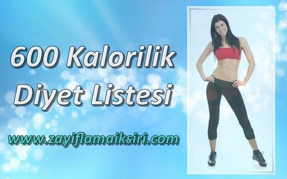 600 Kalorilik Diyet ile Kilo Verme