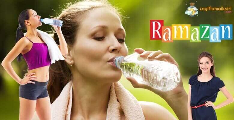 Ramazanda Su İçerek Zayıflama