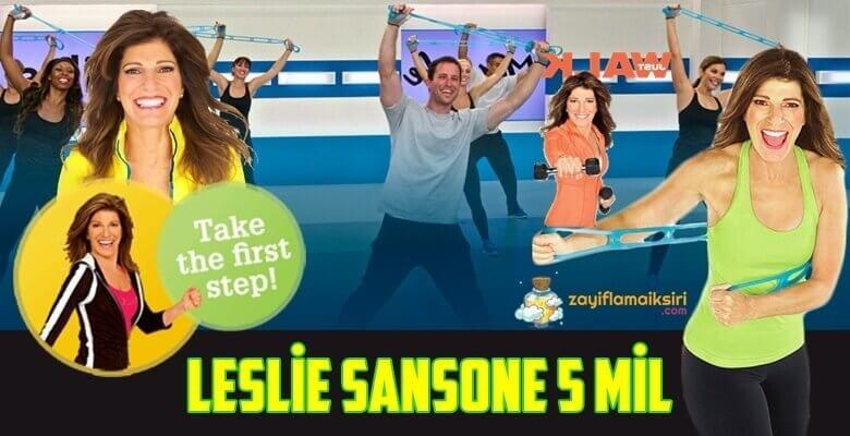 Leslie Sansone 5 Mil ile Evde Zayıflama(Videolu)