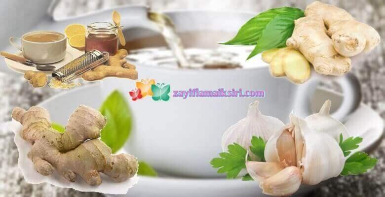 Zencefilli Sarımsaklı Zayıflama Çayı Tarifi ve Kullanımı
